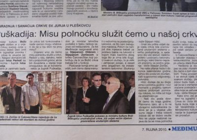IZ MEDIJA - Gradnja crkve u Sv. Jurju na Bregu (2)
