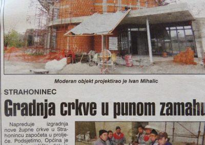 IZ MEDIJA - Izgradnja crkve u Strahonincu (4)